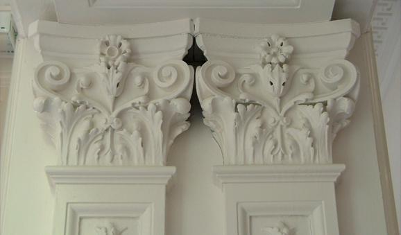 Decorative Plasterwork, Photographed for Architectural Heritage Report, 2007